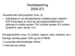 Havbelastning   2005-07)