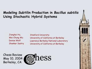 Modeling Subtilin Production in  Bacillus subtilis  Using Stochastic Hybrid Systems