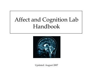 Affect and Cognition Lab Handbook