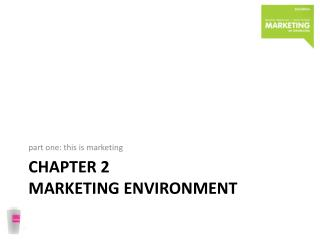 Chapter  2 marketing environment