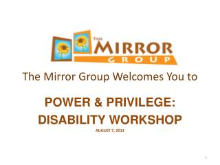 The Mirror Group Welcomes You to
