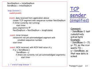 TCP  sender (simplified)