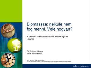 Biomassza: n�lk�le nem fog menni. Vele hogyan?