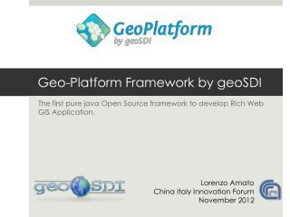 Geo-Platform Framework by geoSDI