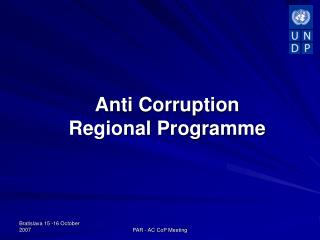 Anti Corruption  Regional Programme