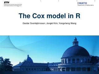 The Cox model in R
