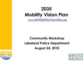 2035 Mobility Vision Plan