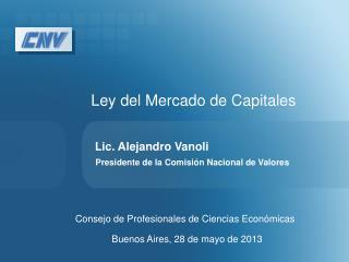 Ley del Mercado de Capitales