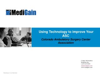 Using Technology to improve Your ASC Colorado Ambulatory Surgery Center Association