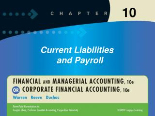 Liabilities that are to be paid out of current assets and are due within a short time, usually within one year, are call