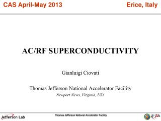AC/RF SUPERCONDUCTIVITY