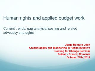 Human rights and applied budget work