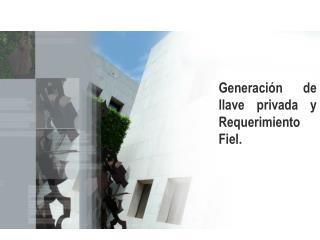 Generación de llave privada y Requerimiento Fiel.