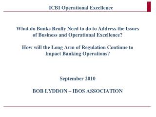 ICBI Operational Excellence