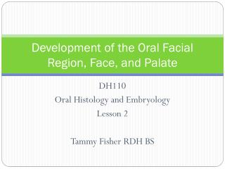 Development of the Oral Facial Region, Face, and Palate