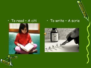 To read – A citi