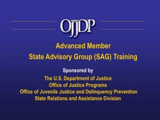 Advanced Member  State Advisory Group (SAG) Training