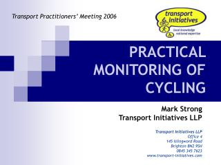 PRACTICAL MONITORING OF CYCLING