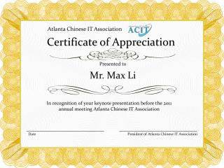 ppt toastmasters certificate of appreciation powerpoint