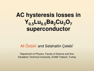 AC hysteresis losses in Y 0.5 Lu 0.5 Ba 2 Cu 3 O 7  superconductor