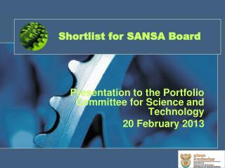 Shortlist for SANSA Board