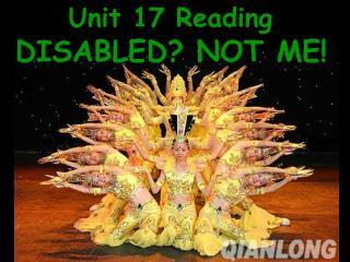 Unit 17 Reading