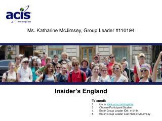 Ms. Katharine McJimsey, Group Leader #110194