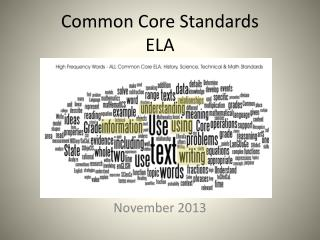 Common Core Standards ELA