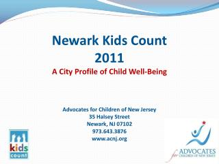 Newark Kids Count 2011