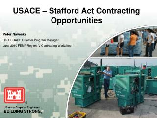 USACE � Stafford Act Contracting Opportunities