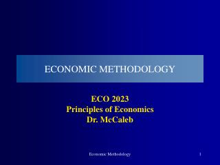 ECONOMIC METHODOLOGY