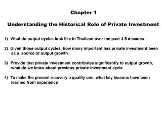 Chapter 1  Understanding the Historical Role of Private Investment