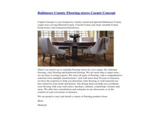 Baltimore County Flooring stores Carpet Concept