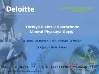 1. Türkiye Elektrik Piyasası Konferansı