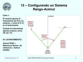 15 – Configurando un Sistema Rango-Acimut