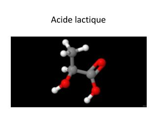 Acide lactique