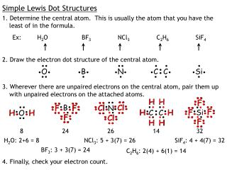 Simple Lewis Dot Structures