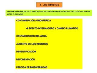 2.- LOS IMPACTOS