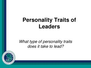 Personality Traits of Leaders