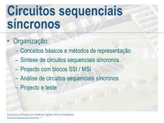 Circuitos sequenciais s�ncronos