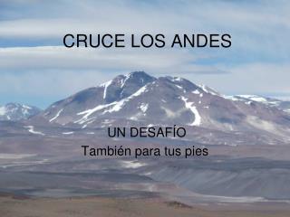 CRUCE LOS ANDES