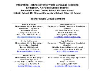 Integrating Technology into the  World Languages Classroom Livingston Public Schools