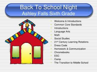 Back To School Night Ashley Falls Sixth Grade