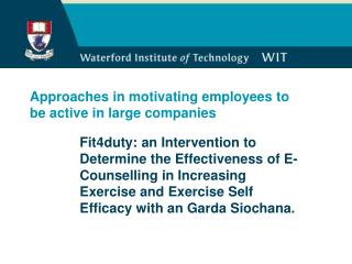 Approaches in motivating employees to be active in large companies