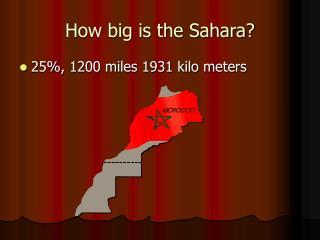 How big is the Sahara?