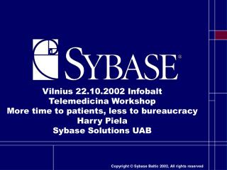 About Sybase