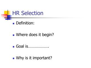 HR Selection