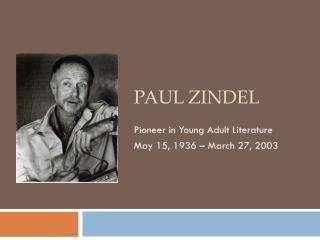 Paul  Zindel