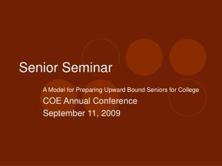Senior Seminar