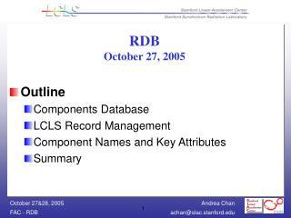 RDB October 27, 2005